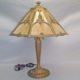 Pewter table lamp with gold wash