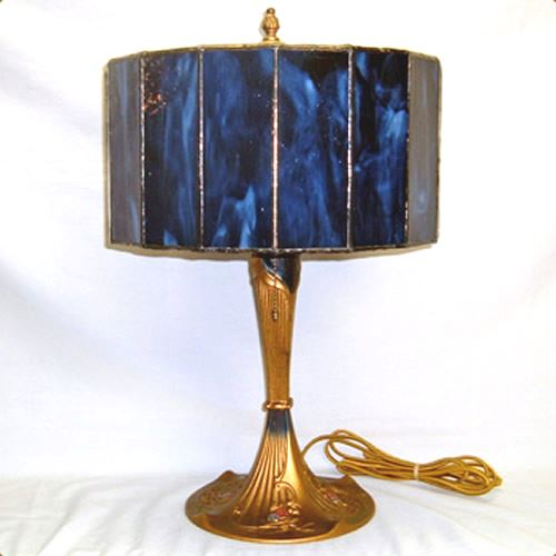 Gold wash table lamp, possibly Handel
