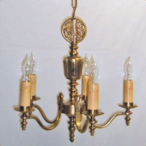 Brass chandelier with dragons