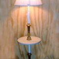Standing floor lamp with Italian marble table top