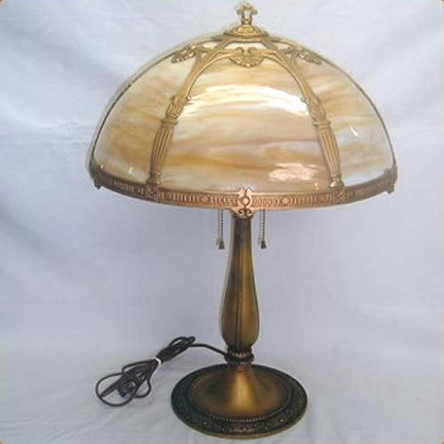 Slag Glass Table Lamp Old Lamps Things Llc
