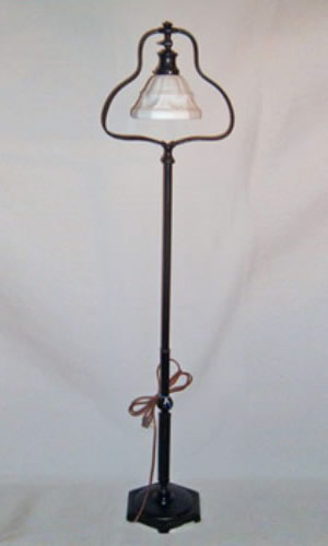 Handel brass floor lamp