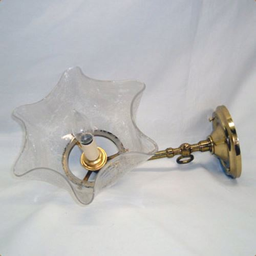 Vintage brass wall sconce signed Welsbach