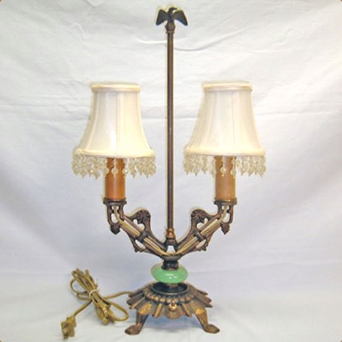 Two Armed Cast Iron Table Lamp Old Lamps Things Llc