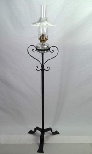 Glass kerosene lamp signed P&A