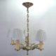 Cast brass chandelier with five arms signed SOL-RAY
