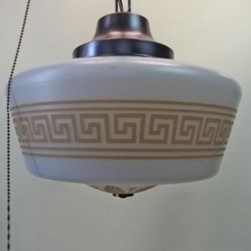 Brass Ceiling Pendant Signed Moe Bridges Co Old Lamps