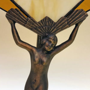 Art Deco nude figure table lamp