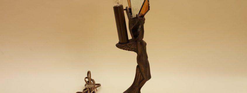Art Deco nude figure table lamp