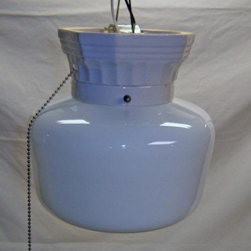 Porcelain school light fixture
