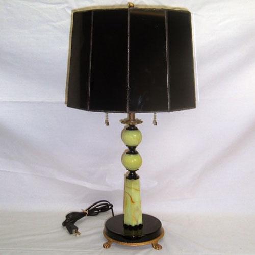 Jadeite table lamp