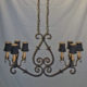 Electrified eight-light candle chandelier