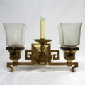 Mission style gas/electric wall sconce signed Bradley & Hubbard