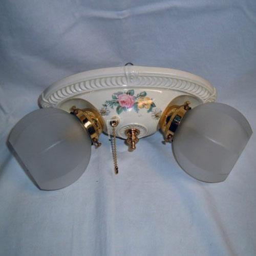 Porcelain flush mount for ceiling or wall