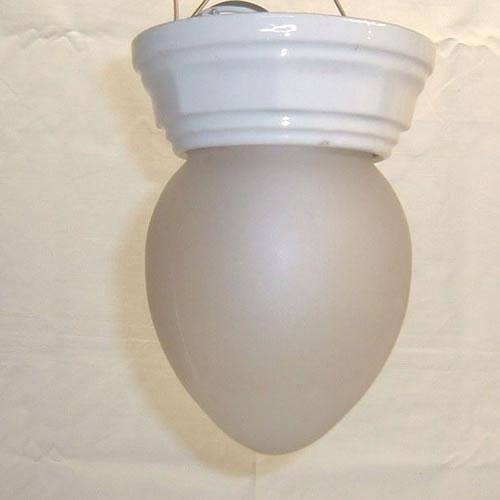White porcelain ceiling flush mount fixture