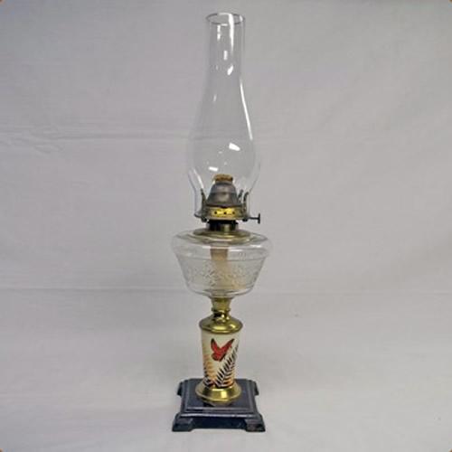 Miller kerosene pedestal table lamp