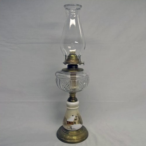 Kerosene pedestal table lamp
