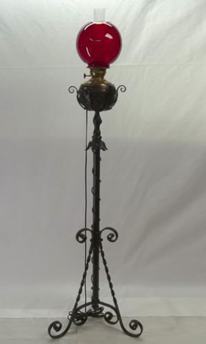 Early piano floor lamp