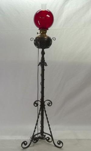 Early piano floor lamp