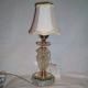 Glass boudoir table lamp