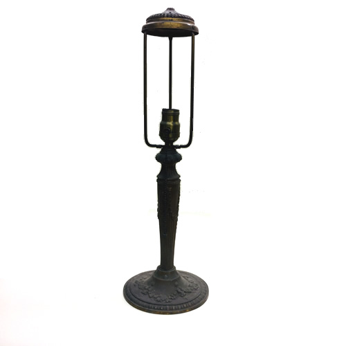 Gold washed pewter table lamp base