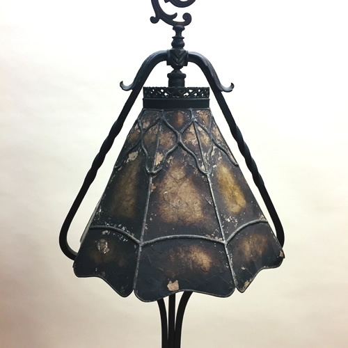 Art Deco Cast Iron Smoke Stand Floor Lamp Old Lamps