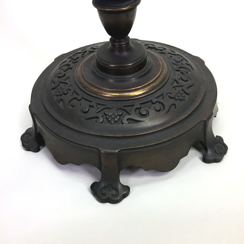 Rembrandt Cast Iron And Brass Torchiere Floor Lamp Old Lamps Amp Things Llc