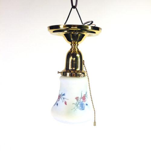 Petite brass ceiling flush mount