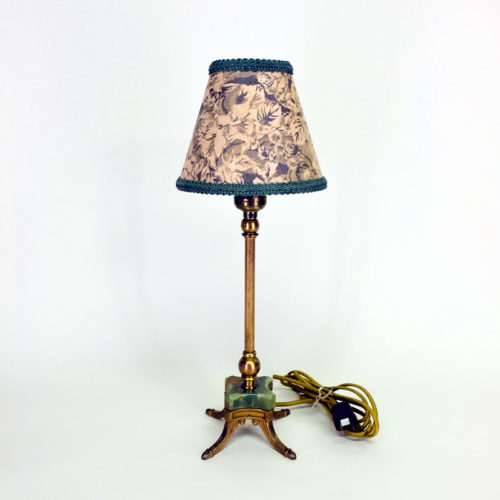 Art Deco petite brass table lamp