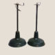 Pair of industrial pendant lights signed SIGHT-CRAFT
