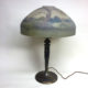 ML Co. table lamp with reverse painted glass dome shade