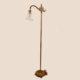 cast iron bridge arm floor lamp with gold wash