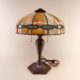 1905 slag glass table lamp