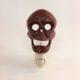Vintage night light with cast iron skeleton head
