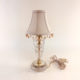Petite glass boudoir lamp with mirror on base