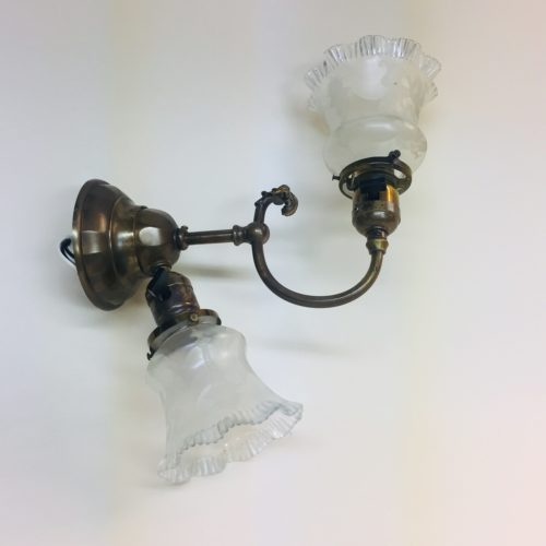 Signed B&H early electric-electric sconce