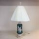 Signed Aladdin green alacite table lamp with original finial