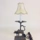 Novel cow lamp with rich patina