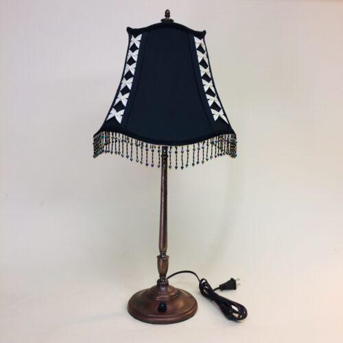 Signed REICHENBACHER brass boudoir lamp