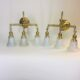 Difficult-to-find pair of brass gas/electric sconces