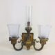 Brass mission style gas/electric sconce signed Bradley & Hubbard