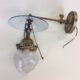 Inverted gas sconce signed REFLEX WELSBACH